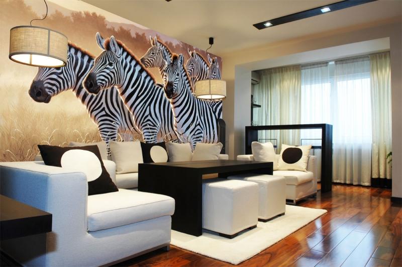 Fotobehang dieren fotobehang zebra 39 s - Behang zebra ...